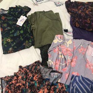 Lot of LuLaRoe leggings, dresses, tops, skirt: os